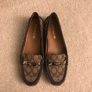 NWOT Coach Logo Loafers